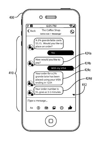 facebook commerce app patent