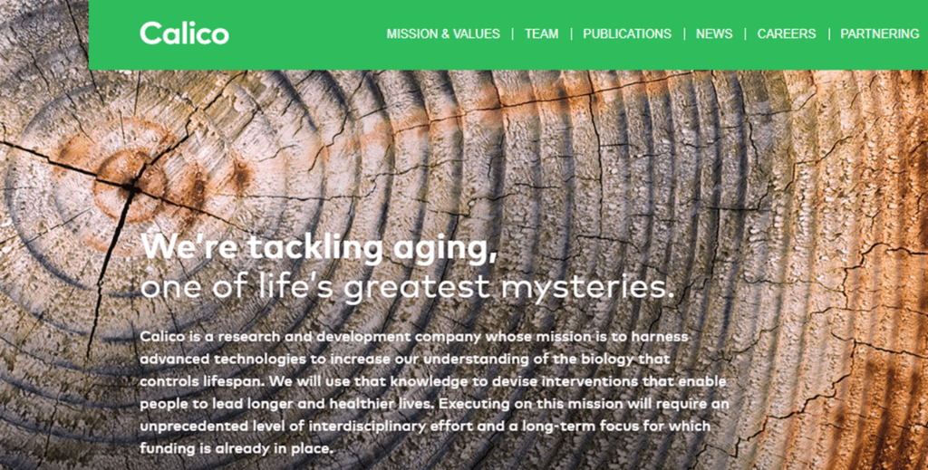 Calico aging website