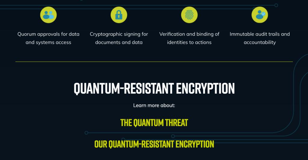 Post quantum cryptography to protect against quantum computing