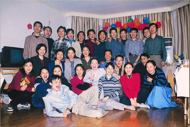 Alibaba team photo from the early days
