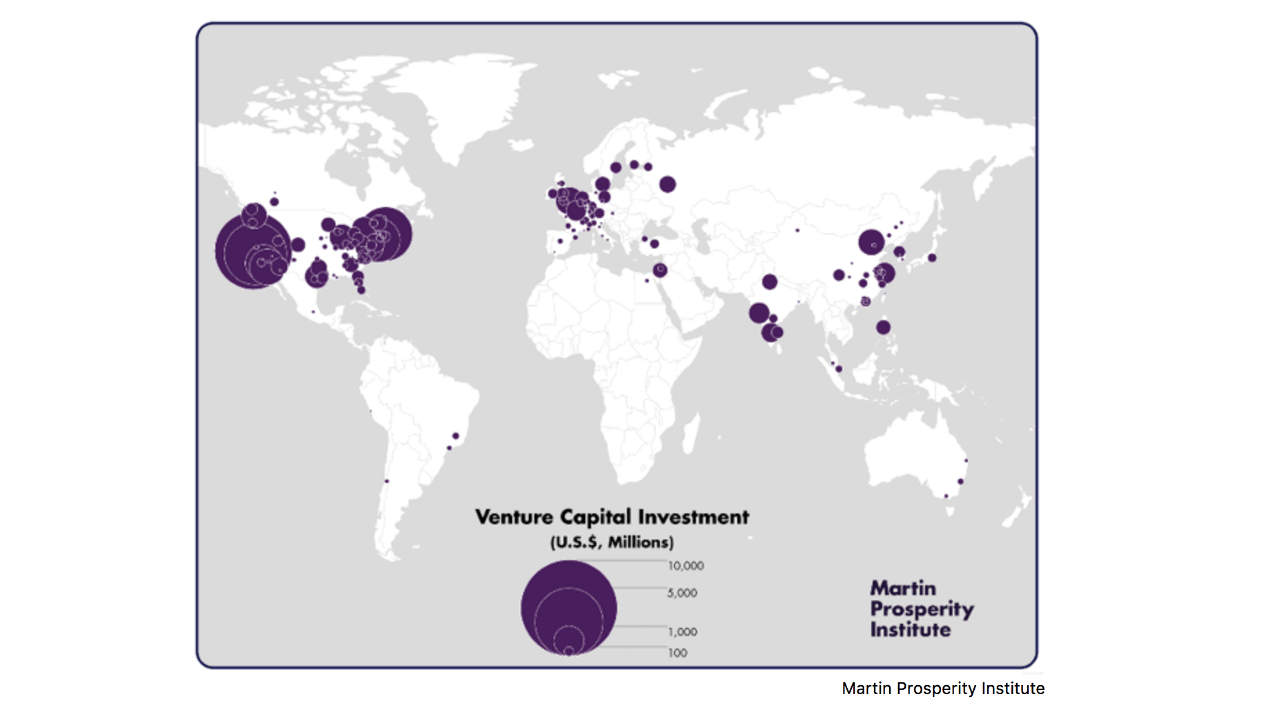 VC investment world map