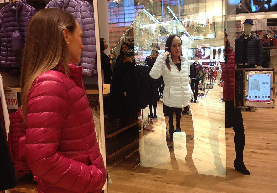 Uniqlo's Magic Mirrors allows consumers to digitally try-on apparel in-store