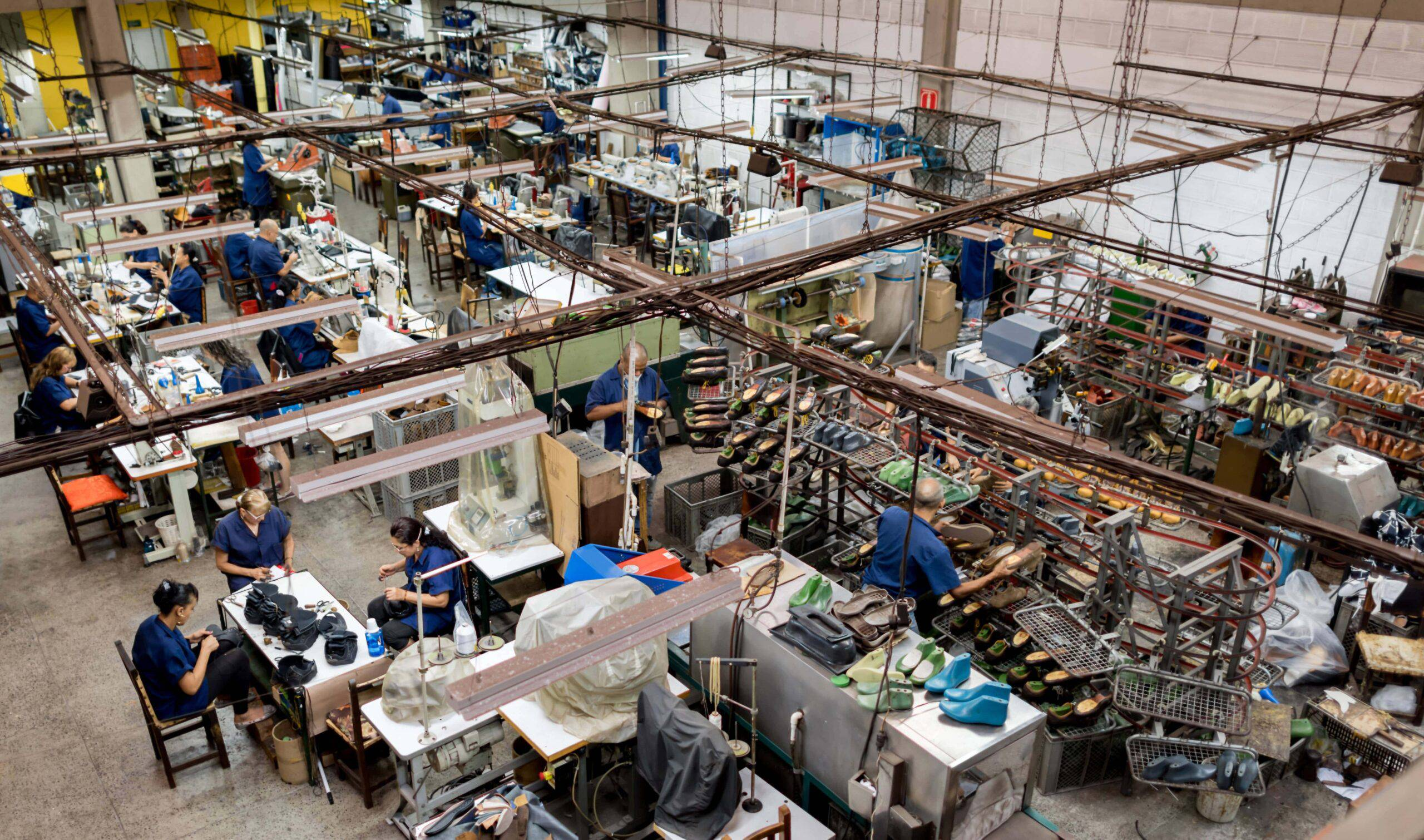 Apparel factory manufacturing floor
