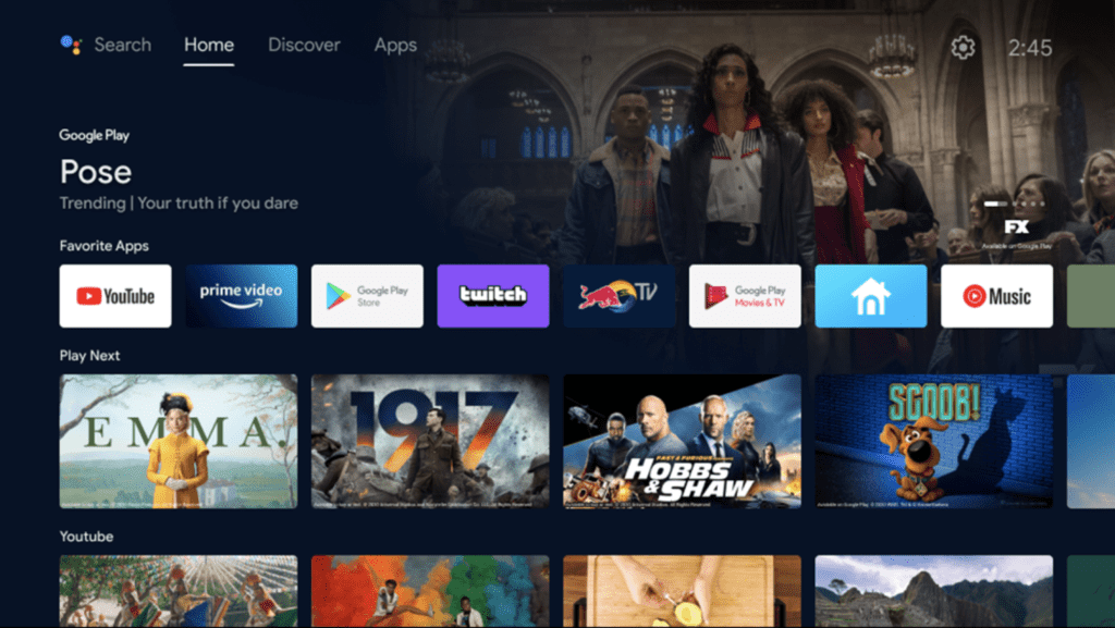 Google's new update for Android TV UI