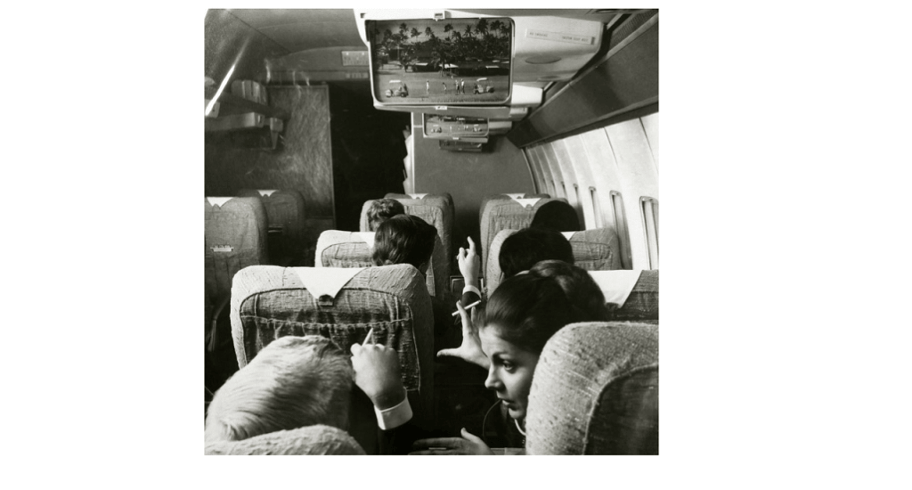 American Airlines/Bell & Howell's In-flight single screen system called Astrocolor