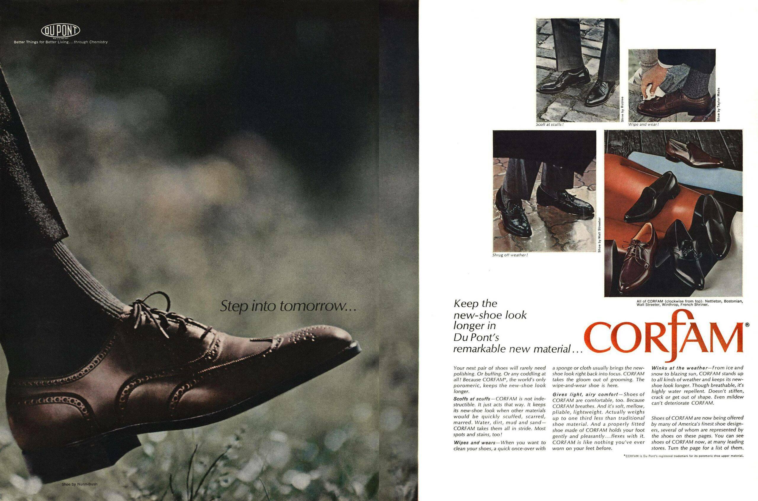 DuPont's Corfam leather alternative