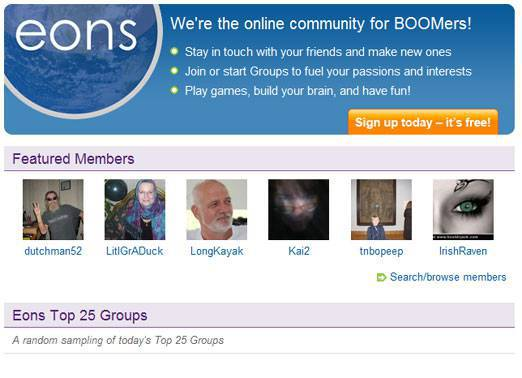eons.com an online social network for baby boomers
