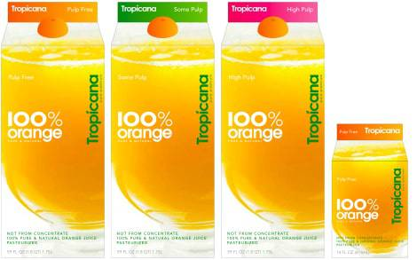PepsiCo's Tropicana new packaging design
