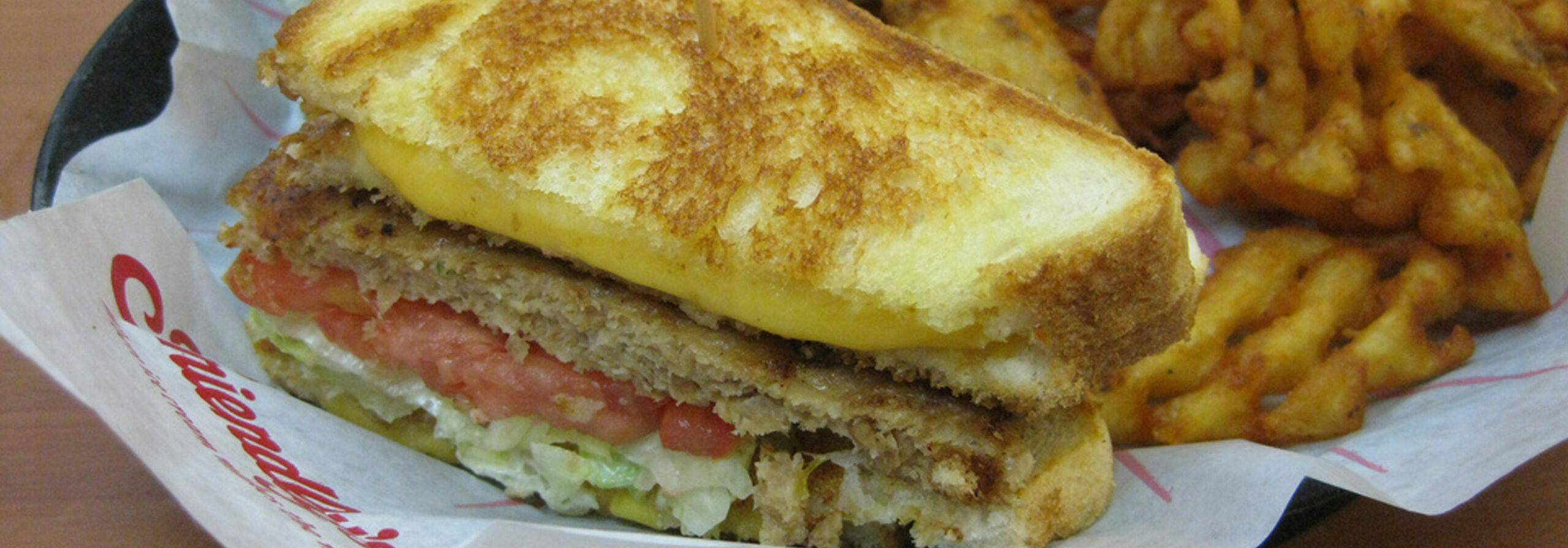 Friendly's Grilled Cheese Burger