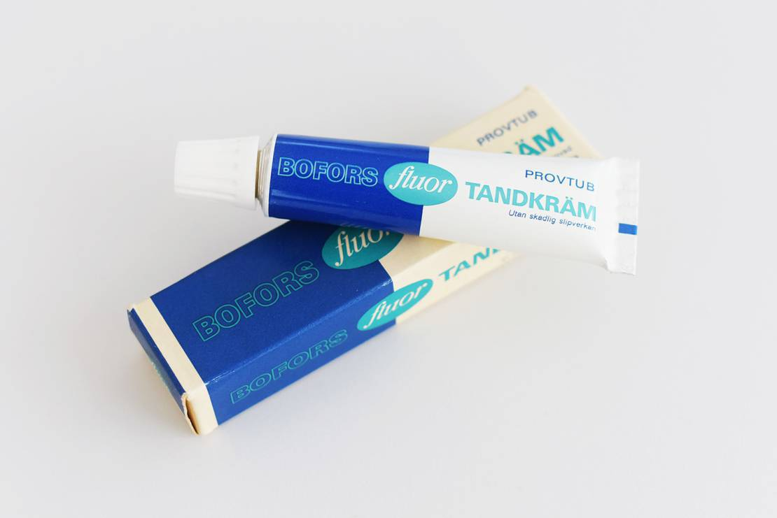 Bofors flouride toothpaste