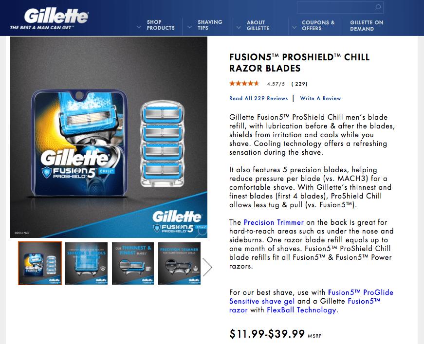 Lưỡi dao cạo Fusion5 của Gillette