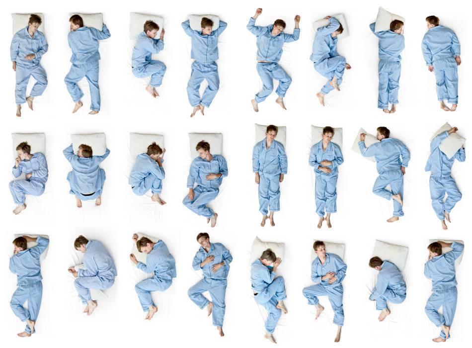 Nhiều tư thế ngủ