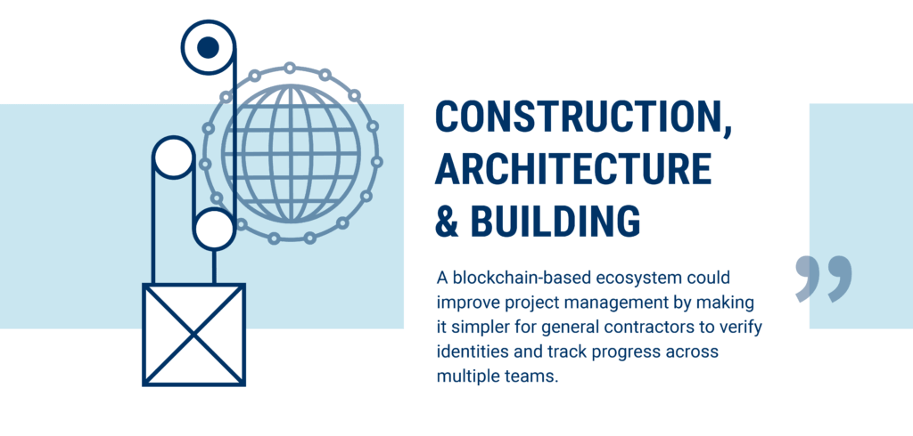Construction, architecture and building are being disrupted by blockchain technology
