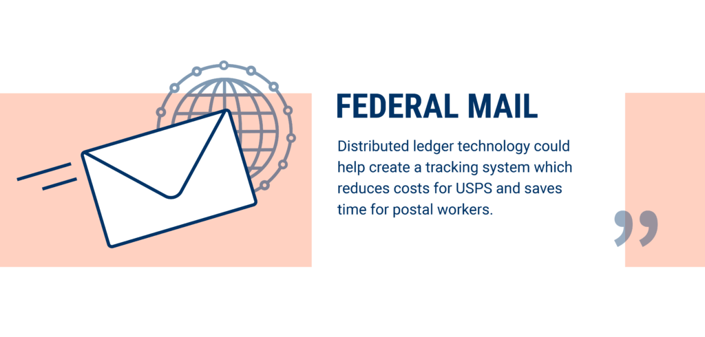 Federal mail is being disrupted by blockchain technology