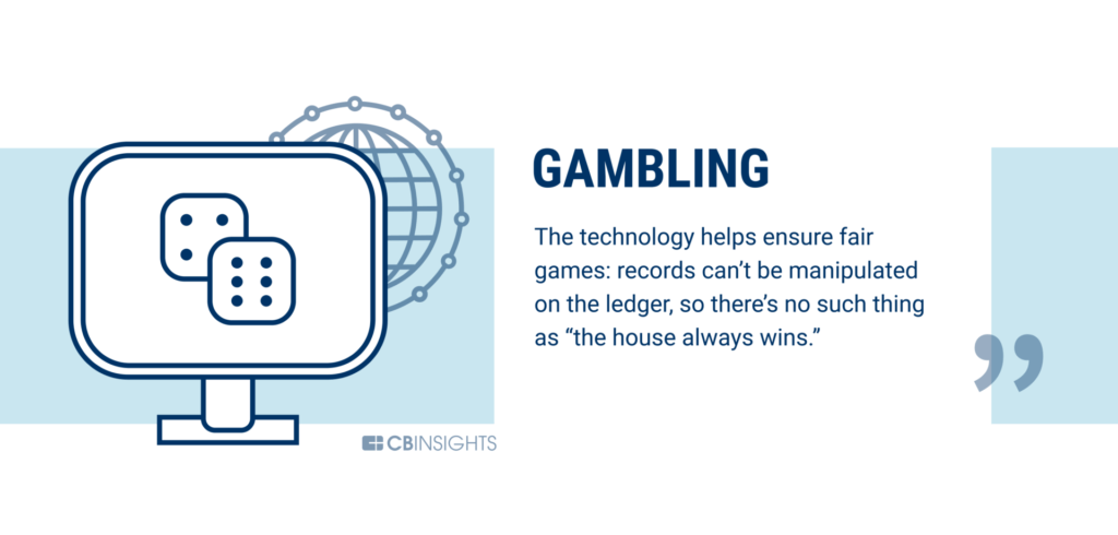 Gambling is being disrupted by blockchain technology