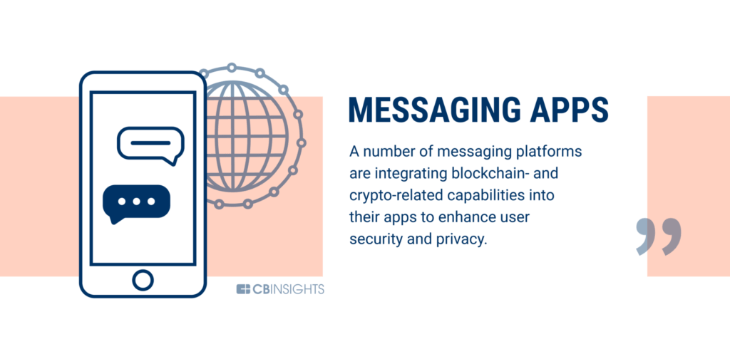 Messaging apps are being disrupted by blockchain technology
