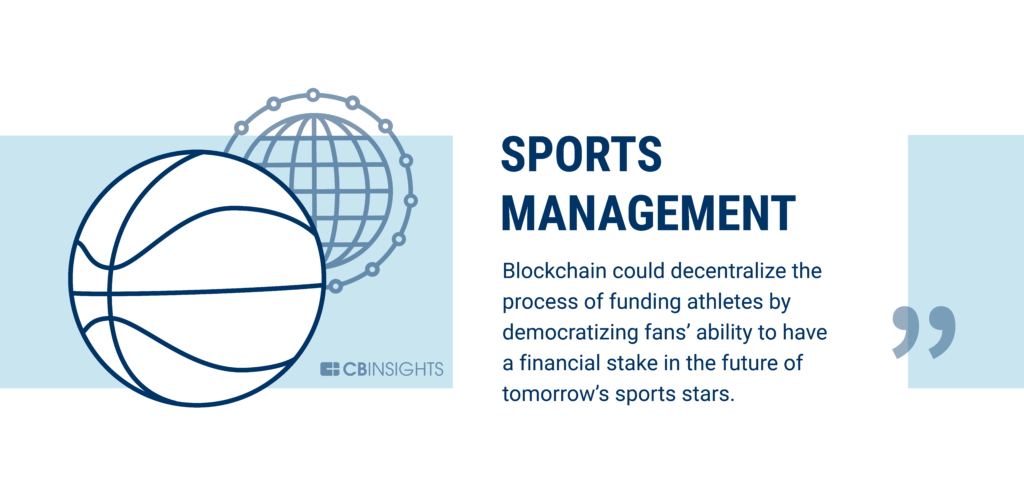 Sports management is being disrupted by blockchain technology