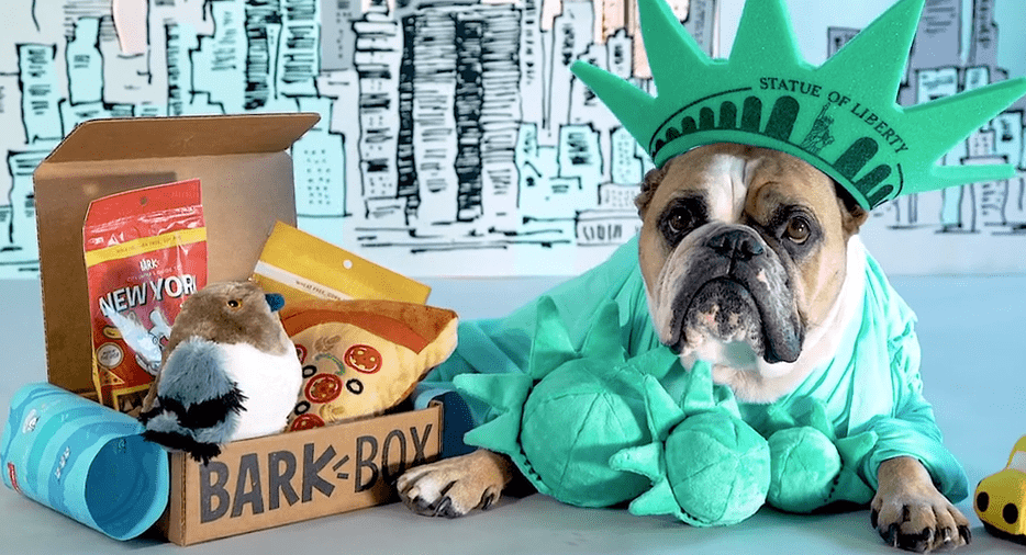 BarkBox's New York dog food package