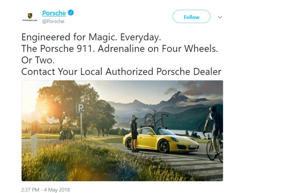 Porsche tweets about The Porsche 911