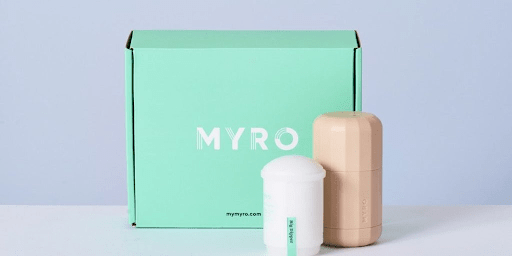 Image showing Myro's refillable deodorant and packaging.