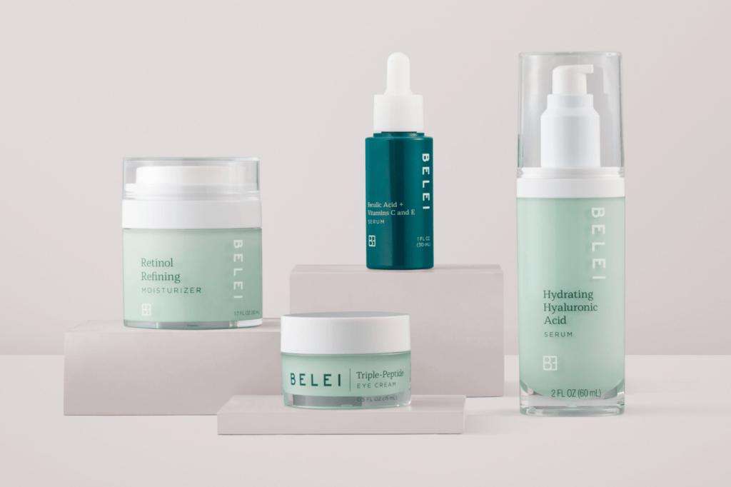 Amazon's Belei skincare includes popular ingredients like retinol and hyaluronic acid