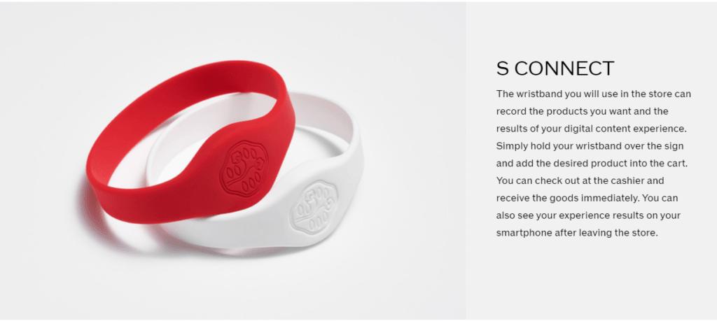 Shiseido's S Connect wristband create virtual shopping experiences