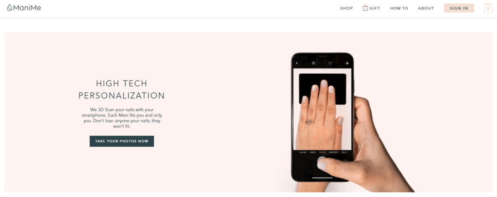 ManiMe uses 3D scanning and printing technology to create customized press-on nails.