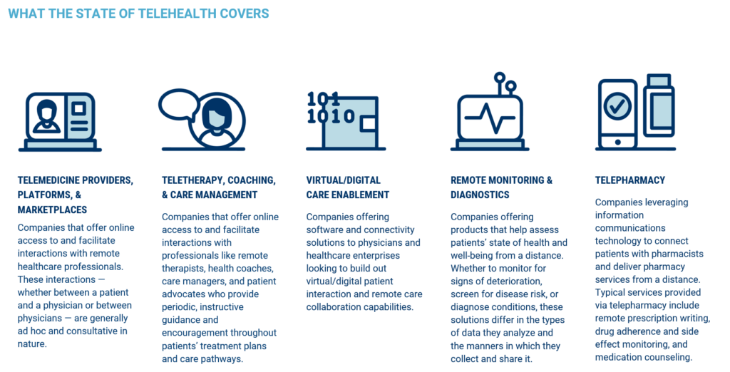 Key segments covered in the State Of Telehealth report